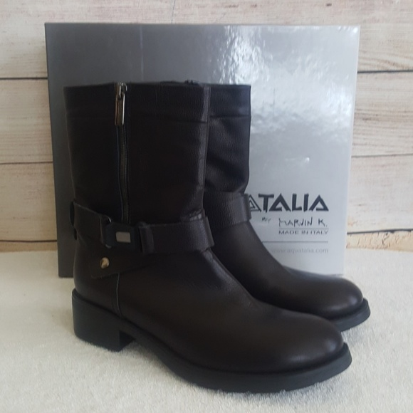 2489927e9b3f New Aquatalia Sami Rustico Weatherproof Moto Boot